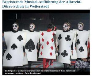 Begeisternde Musical-Aufführung der Albrecht-Dürer-Schule in Weiterstadt (Echo online vom 13.06.2018)
